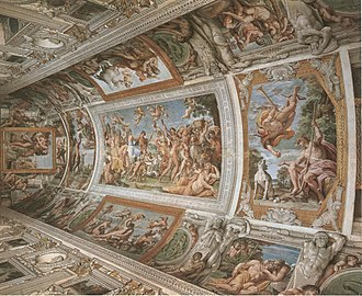 The Loves of the Gods - Fresco cycle found on the vault of the Farnese Gallery.