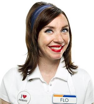 "Actress Stephanie Courtney appears as ""Fl..."