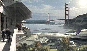Fort Baker - A 22nd-century view of Starfleet Command buildings in Fort Baker from Star Trek: Enterprise.