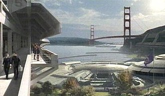 Fort Baker - A 22nd-century view of Starfleet Command buildings in Fort Baker from Star Trek: Enterprise.