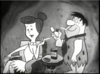 The Flintstones - Fred and Wilma advertising Winston cigarettes during the closing credits
