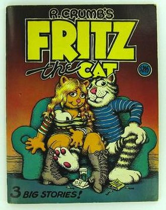 Robert Crumb - Front cover of Fritz the Cat.