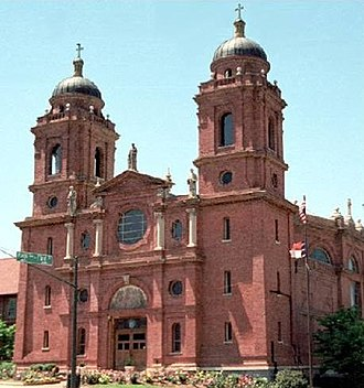 Basilica of St. Lawrence, Asheville - A view of the front of the Basilica from the street