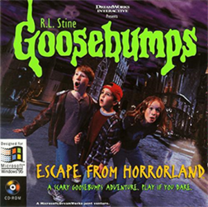Goosebumps (video game series) - Boxart of Goosebumps: Escape from Horrorland