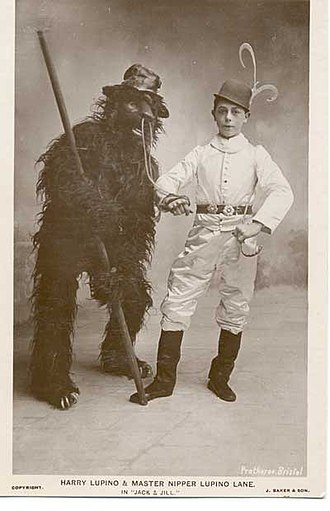 Lupino Lane - Lane and his father in Jack and Jill, 1907–08 at the Prince's Theatre, Bristol