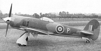 Hawker Tempest - First prototype Tempest II LA602, again with the small tail unit