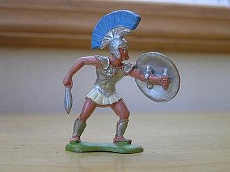 Toy soldier - Vintage plastic Trojan War figure by Herald