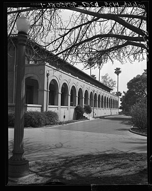 Boyle Heights, Los Angeles - Hollenbeck Home for the Aged, 573 S Boyle Ave. Built in 1918, photo taken 1956.