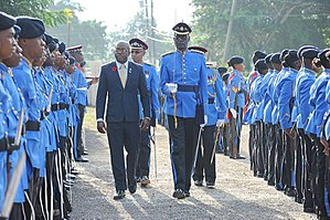 Pearnel Patroe Charles Jr. - Minister Charles with the Jamaica Combined Cadet Force
