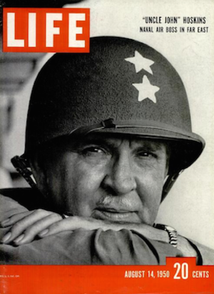 """John Hoskins (officer) - """"Uncle John"""" Hoskins featured on cover of Life magazine, August 14, 1950"""