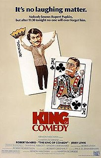 <i>The King of Comedy</i> (film) 1982 film directed by Martin Scorsese