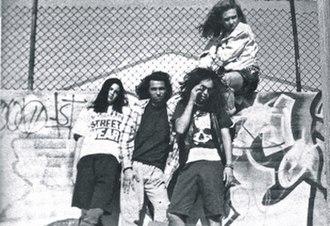 L.A.P.D. (band) - L.A.P.D. line-up. From left to right: David Silveria, James Shaffer, Reginald Arvizu, Richard Morrill