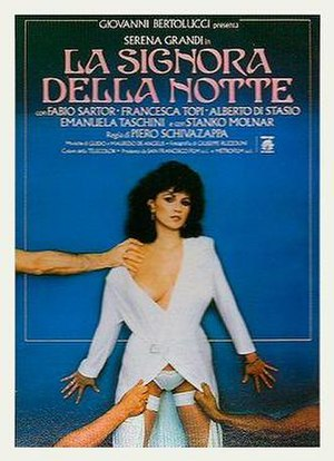 Lady of the Night (1986 film) - Italian theatrical release poster