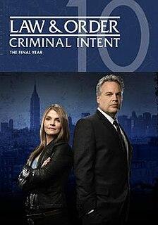<i>Law & Order: Criminal Intent</i> (season 10) Season of television series