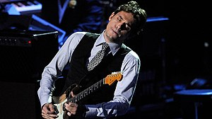 "John Mayer playing guitar on ""Human Natur..."
