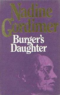 <i>Burgers Daughter</i> 1979 novel by Nadine Gordimer
