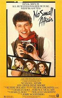 <i>No Small Affair</i> 1984 film by Jerry Schatzberg