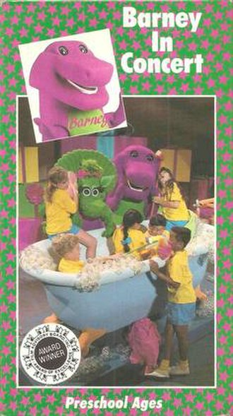Barney in Concert - Image: Original American VHS Cover 2014 07 22 16 24