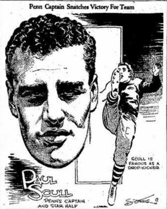 Paul Scull - Newspaper cartoon of Scull, November 1928