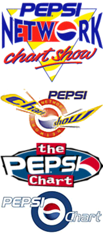 Pepsi Chart - Various logos used during its time on air