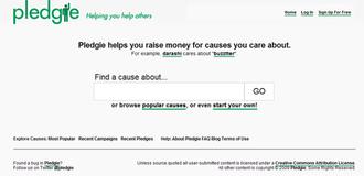 Pledgie - Image: Pledgiescreenshot