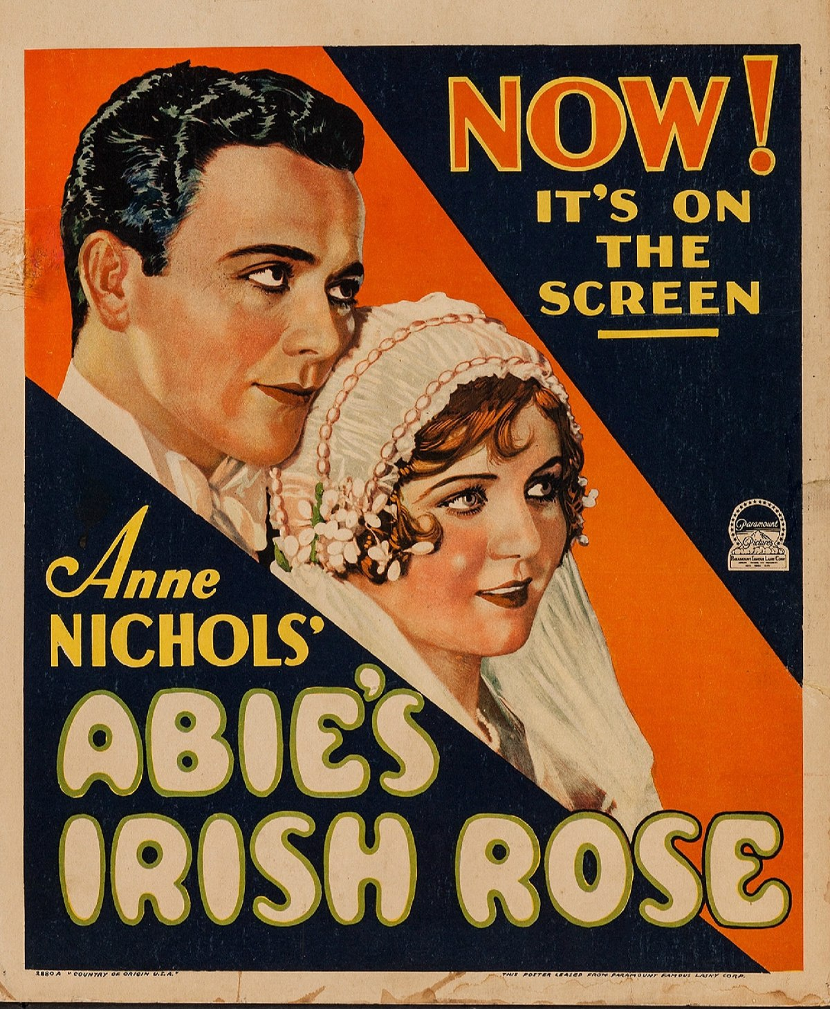 Abie's Irish Rose (1928 film) - Wikipedia
