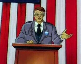 Robert Kelly (comics) - Senator Kelly in the X-Men animated series