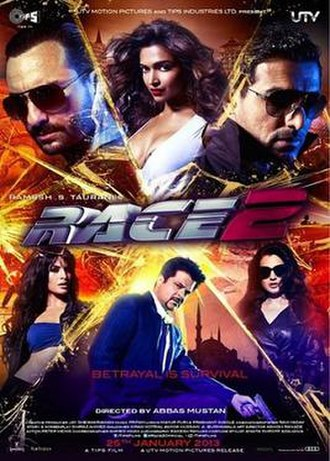 Race 2 - Theatrical release poster