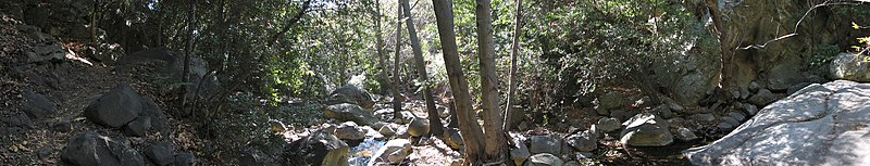 A panorama of Rattlesnake Canyon