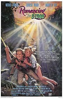 <i>Romancing the Stone</i> 1984 film directed by Robert Zemeckis