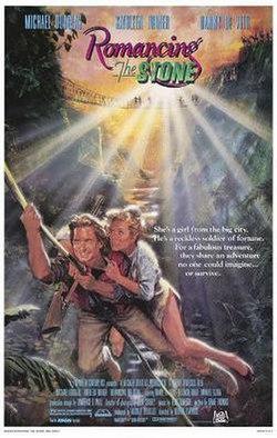 Romancing the Stone (1984) (In Hindi) SL DM - Robert Zemeckis, it stars Michael Douglas, Kathleen Turner and Danny DeVito