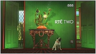RTÉ2 - Venus Flytrap logo from 2009–2014, RTÉ Two's green room look from 2004