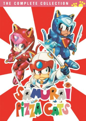Samurai Pizza Cats - Cover art of the American DVD box set