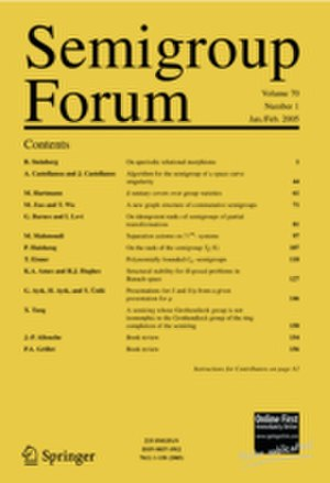 Semigroup Forum - Image: Semigroup Forum cover 2013
