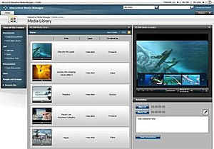 Microsoft Interactive Media Manager - The MOSS 2007 based media player console in IMM