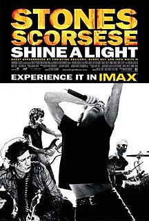 <i>Shine a Light</i> (film) 2008 documentary film directed by Martin Scorsese