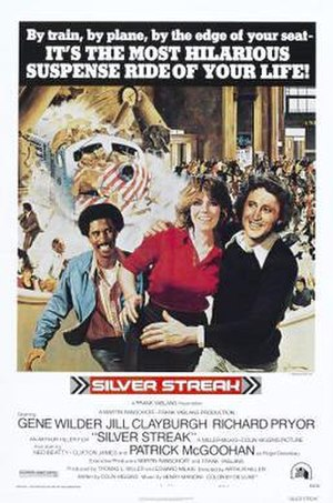 Silver Streak (film) - Film poster, artwork by George Gross