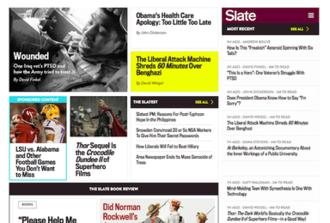 Slate (magazine) - Image: Slate homepage 2013 11 09
