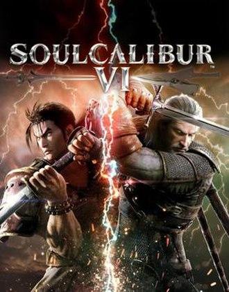 Soulcalibur VI - Cover art featuring Mitsurugi and Geralt of Rivia
