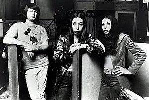 American Spring - American Spring, 1972 (left to right: producer Brian Wilson with Marilyn Wilson and Diane Rovell)