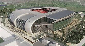 Stanley Park Stadium - Artist's impression of HKS' Stanley Park Stadium