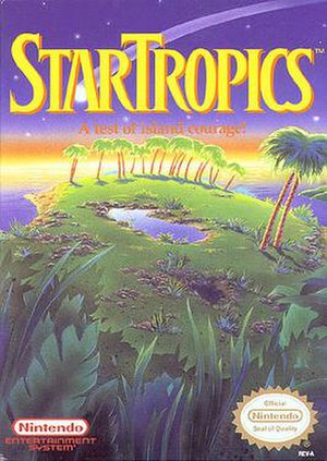 StarTropics - North American NES box art