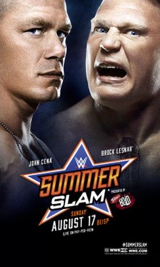 SummerSlam (2014) - Promotional poster featuring John Cena and Brock Lesnar