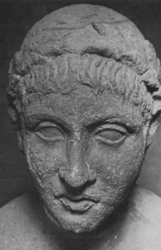 "Tomb of the Scipios - The so-called ""Head of Ennius"""