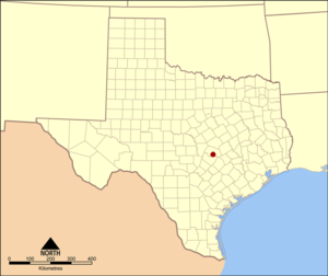 Location of Round Rock, Texas