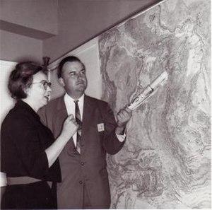Bruce C. Heezen - Marie Tharp and Bruce Heezen