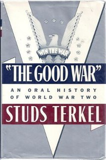 <i>The Good War</i> book by Studs Terkel