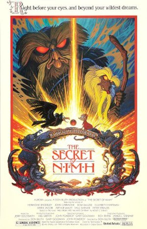 The Secret of NIMH - Theatrical release poster by Tim Hildebrandt
