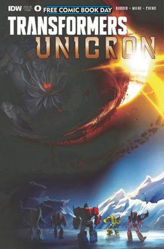 Transformers: Unicron - Image: Transformers Unicron Issue 0, IDW Publishing, Mar 2018