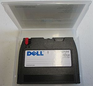 Quarter-inch cartridge - A 40GB Travan tape cartridge.
